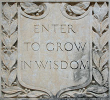 Enter to Grow in Wisdom