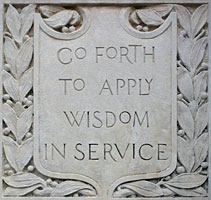 Go Forth to Apply Wisdom in Service