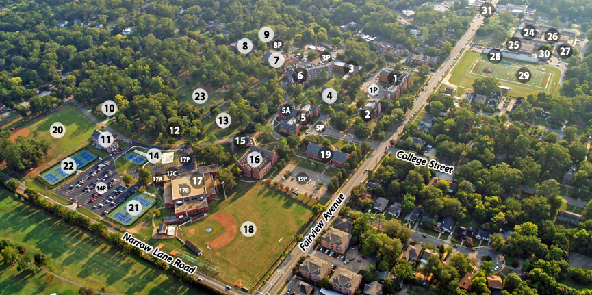 Campus Map Huntingdon College