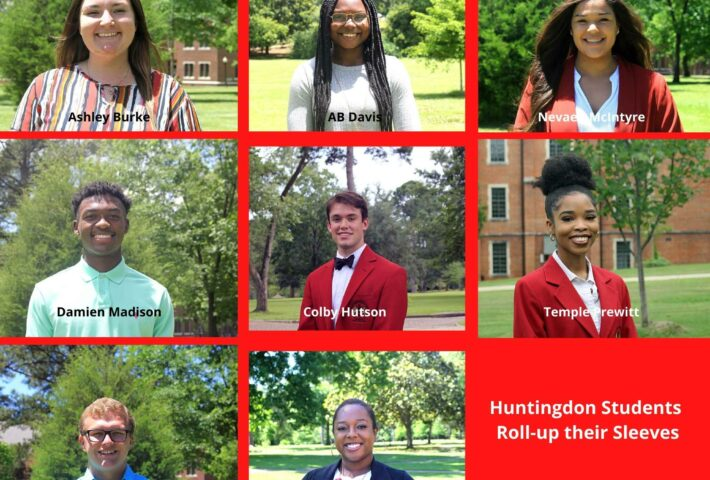 Huntingdon Student's Roll Up Their Sleeves