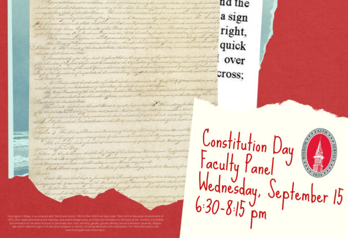 Constitution Day Faculty Panel Wednesday, September 15 6:30-8:15 pm