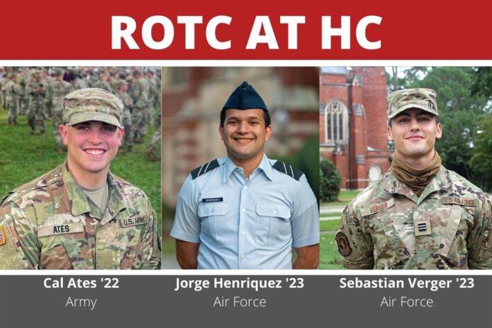 Cal Ates '22 Arm, Jorge Henriquez '23 Air Force, Sebastian Verger '23 Air Force