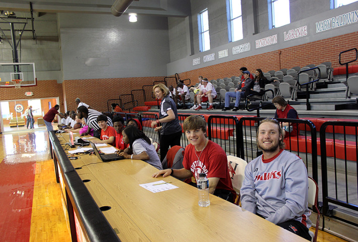 SSPE majors at Special Olympics tournament, Roland Arena