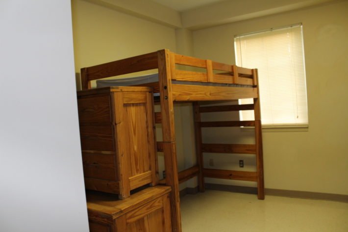 photo of hotel-style room furniture
