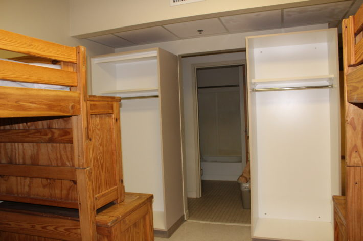 photo of hotel-style room closets