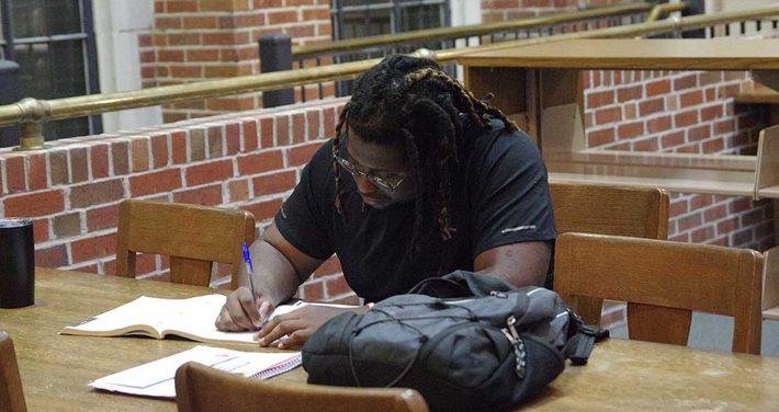 ben studying