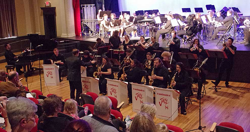 Huntingdon hosts high school bands and presents winter concert