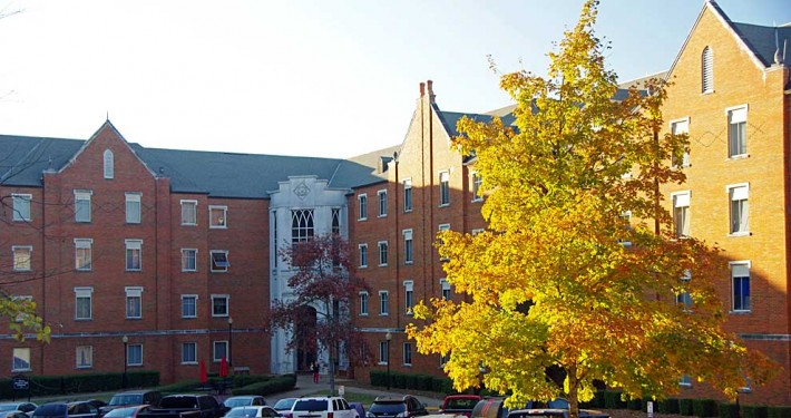 Blount Hall in autumn