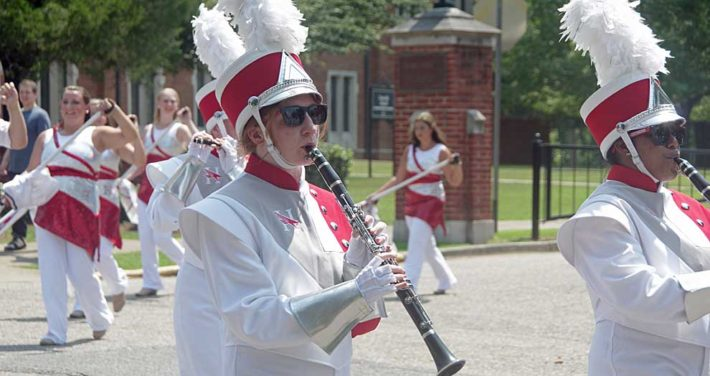 Marching band clarinet