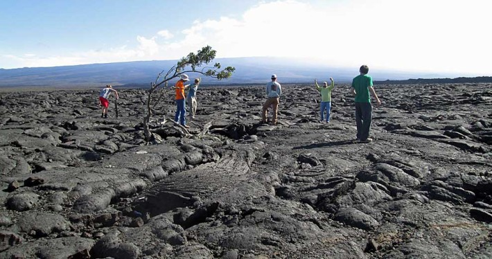 lava fields in Hawaii