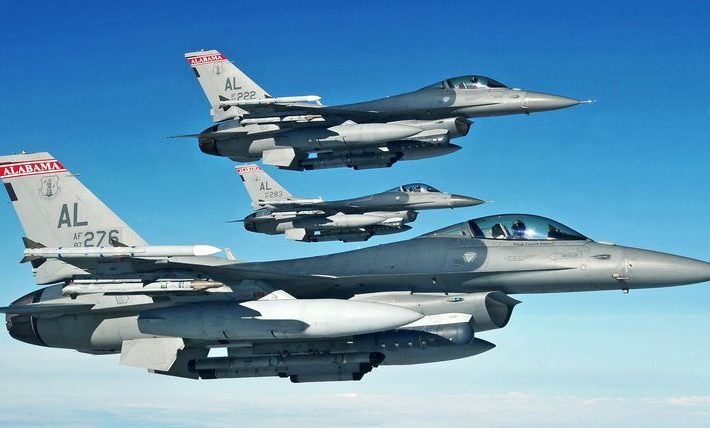Air Force Fighting Falcon aircraft