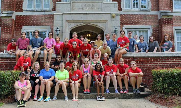 Ligon Hall on Big Red Weekend move-in day 2013