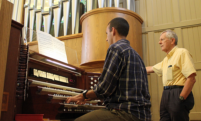 James Conely organ lesson