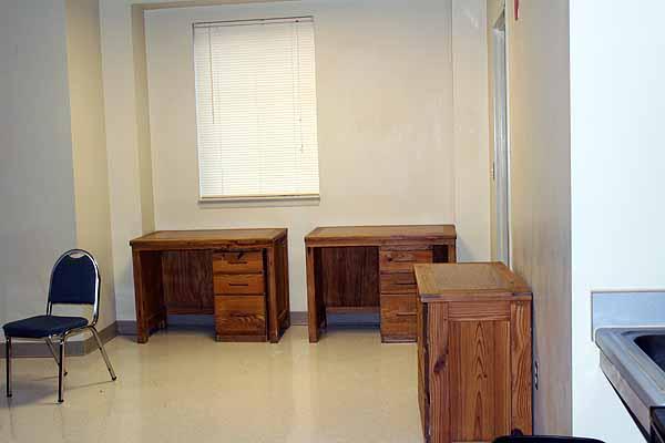 photo of desks in common area