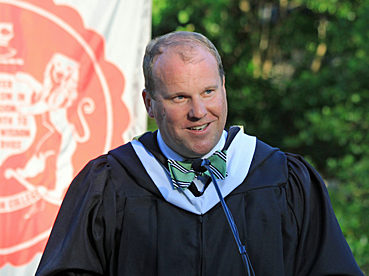 Mr. Anthony Leigh speaking at Commencement