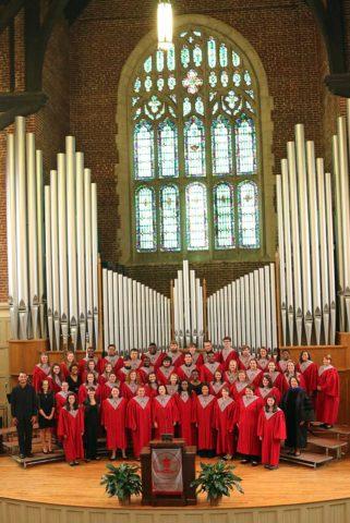 vertical choir photo in chapel