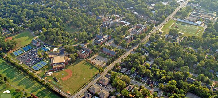 Huntingdon College campus aerial view 2012