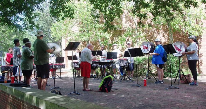 drum line practice