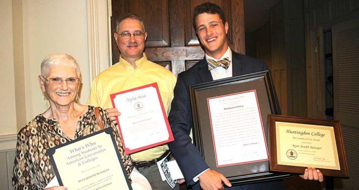 Ryan Runager with awards