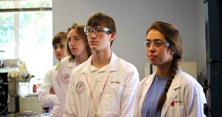 HC students exploring health sciences