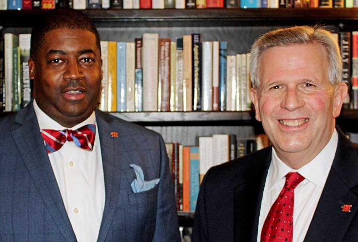 Photo of Dr. Damion Womack and President West