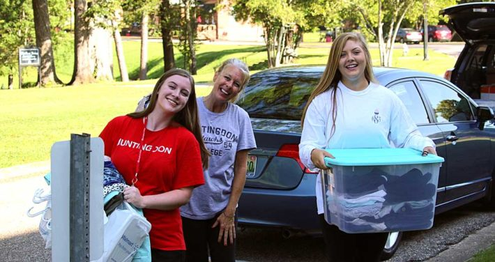 mother and daughters moving in