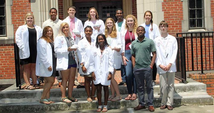 group of Health Sciences Academy students