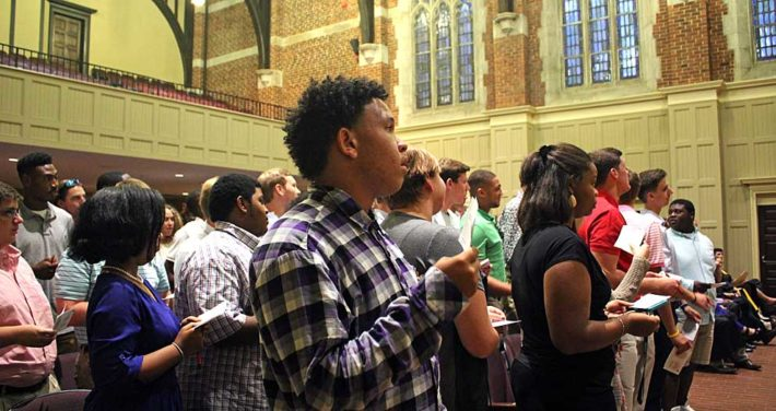 students at Honor Convocation