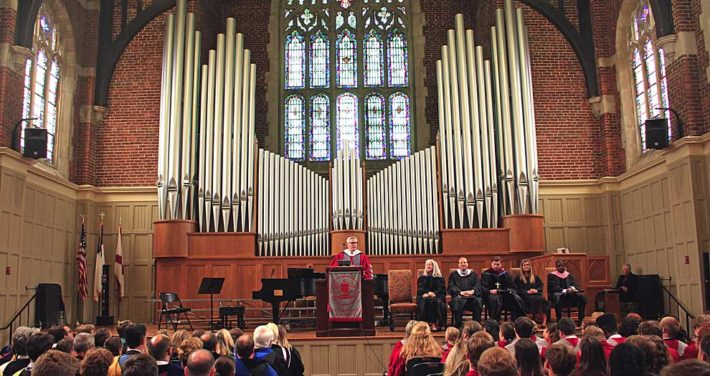 Presidential Convocation full stage with window