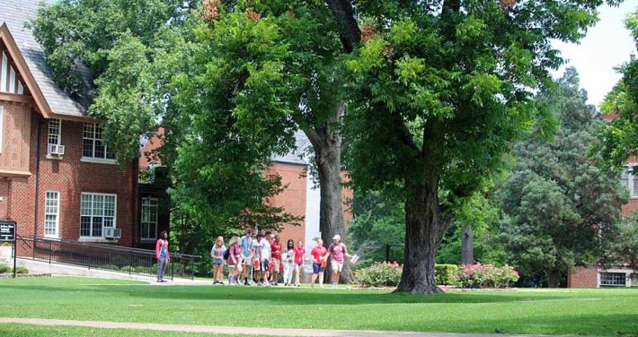 orientation group in front of Jackson Home