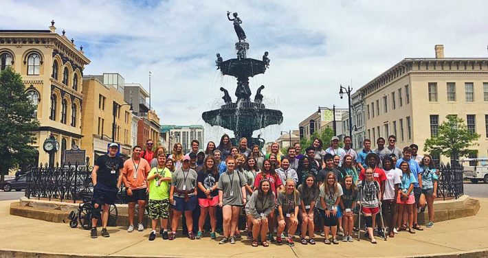 students touring downtown Montgomery