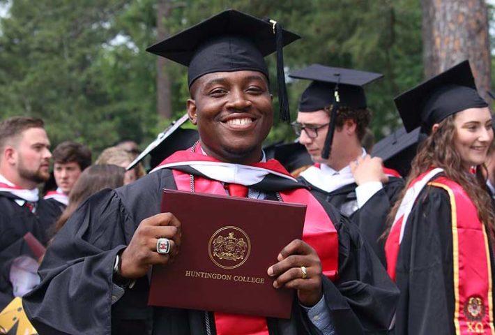2018 graduate with diploma